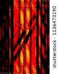 metal grid structures over...   Shutterstock . vector #1136473190