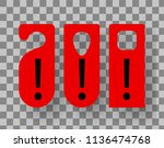 red door hanger.hotel sign  do... | Shutterstock .eps vector #1136474768
