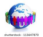 3d illustration  social media.... | Shutterstock . vector #113647870