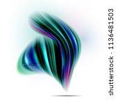 fluid liquid mixing colors... | Shutterstock .eps vector #1136481503