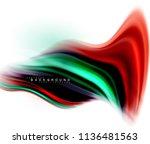 fluid liquid mixing colors... | Shutterstock .eps vector #1136481563