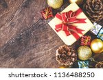 christmas or new year... | Shutterstock . vector #1136488250