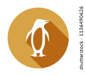 silhouette of the penguin icon... | Shutterstock .eps vector #1136490626