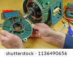three phase induction   motor... | Shutterstock . vector #1136490656
