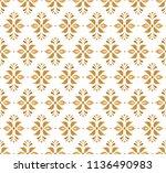 vector golden ornamental... | Shutterstock .eps vector #1136490983