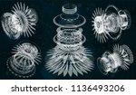 mechanical scheme  vector... | Shutterstock .eps vector #1136493206