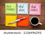 new monday  new week  neew... | Shutterstock . vector #1136496293