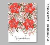 floral wedding invitation... | Shutterstock .eps vector #1136504519