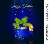 vector illustration on blue... | Shutterstock .eps vector #1136506769