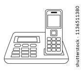 office digital telephone icon | Shutterstock .eps vector #1136511380