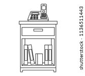 office drawer with books   Shutterstock .eps vector #1136511443