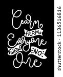 learn from everyone follow no...   Shutterstock .eps vector #1136516816