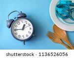 time to lose weight   eating... | Shutterstock . vector #1136526056