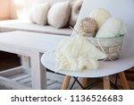 accessories for needlework.... | Shutterstock . vector #1136526683