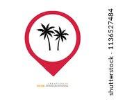 coconut tree icon.vector...   Shutterstock .eps vector #1136527484