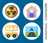 simple 4 icon set of building... | Shutterstock .eps vector #1136528288