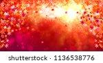 autumn leaves autumn background | Shutterstock .eps vector #1136538776