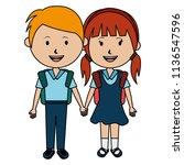 students couple avatars... | Shutterstock .eps vector #1136547596