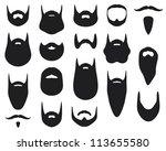 set of beard silhouettes  | Shutterstock . vector #113655580