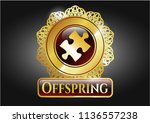 gold badge or emblem with... | Shutterstock .eps vector #1136557238