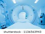 hospital tomography magnetic... | Shutterstock . vector #1136563943