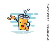 cup character presentation... | Shutterstock .eps vector #1136570243