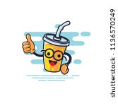 cup character thumb style with... | Shutterstock .eps vector #1136570249