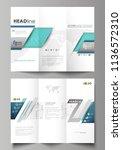 tri fold brochure business... | Shutterstock .eps vector #1136572310