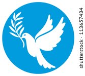 dove of peace | Shutterstock .eps vector #113657434