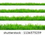 green grass border isolated on... | Shutterstock . vector #1136575259