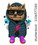 yorkshire terrier illustration. ... | Shutterstock .eps vector #1136577260