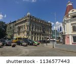 street buildings architecture... | Shutterstock . vector #1136577443