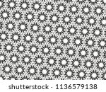 ornament with elements of black ... | Shutterstock . vector #1136579138