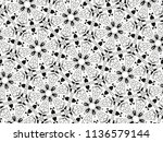 ornament with elements of black ... | Shutterstock . vector #1136579144