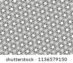 ornament with elements of black ... | Shutterstock . vector #1136579150