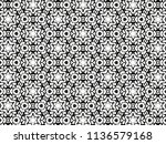 ornament with elements of black ... | Shutterstock . vector #1136579168