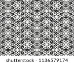 ornament with elements of black ... | Shutterstock . vector #1136579174