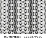 ornament with elements of black ... | Shutterstock . vector #1136579180