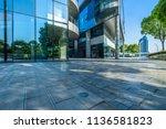 modern glass building exterior... | Shutterstock . vector #1136581823