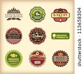 set of different retro labels... | Shutterstock .eps vector #113658304
