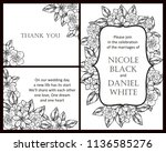 romantic wedding invitation... | Shutterstock .eps vector #1136585276