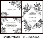 romantic wedding invitation... | Shutterstock .eps vector #1136585366