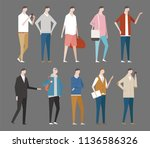 various stylish men fashion.... | Shutterstock .eps vector #1136586326