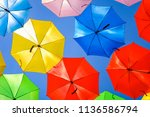 beautiful display of colorful... | Shutterstock . vector #1136586794
