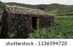 abandoned building in flores ... | Shutterstock . vector #1136594720