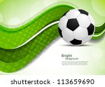 green background with soccer... | Shutterstock .eps vector #113659690