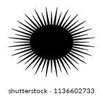 spiny sea urchin marine animal... | Shutterstock .eps vector #1136602733