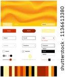 light red  yellow vector ui kit ...