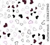 dark pink  yellow vector... | Shutterstock .eps vector #1136615960