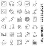 thin line vector icon set  ... | Shutterstock .eps vector #1136618219